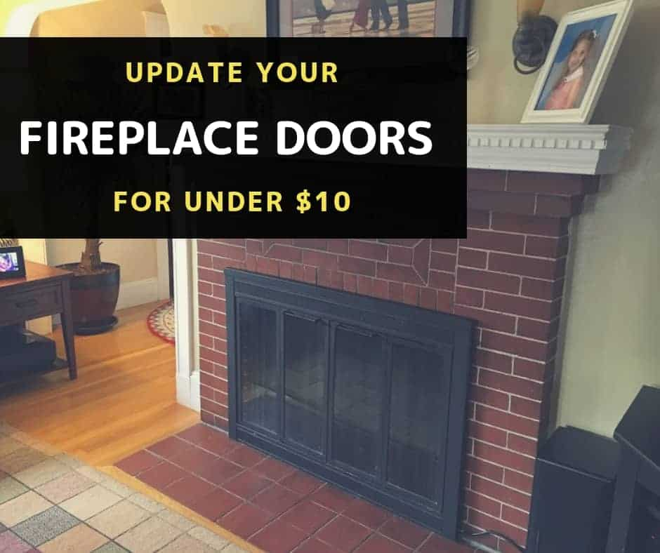 Update Brass Fireplace Doors For Under 10 Everyday Old House