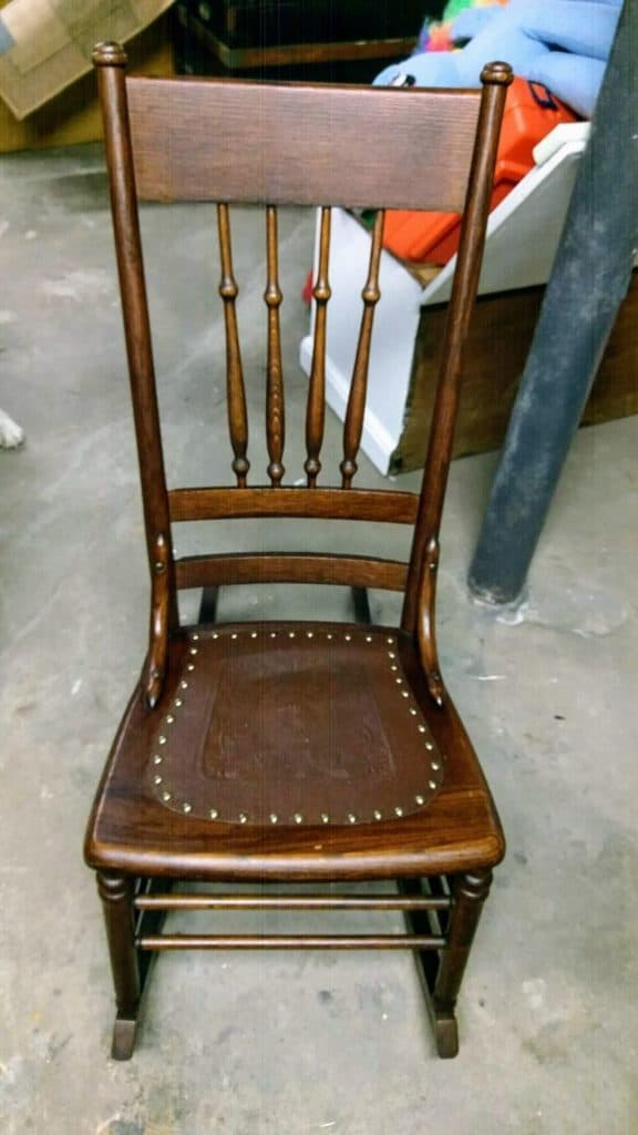 Fine How To Replace A Leather Seat In An Antique Chair Everyday Cjindustries Chair Design For Home Cjindustriesco