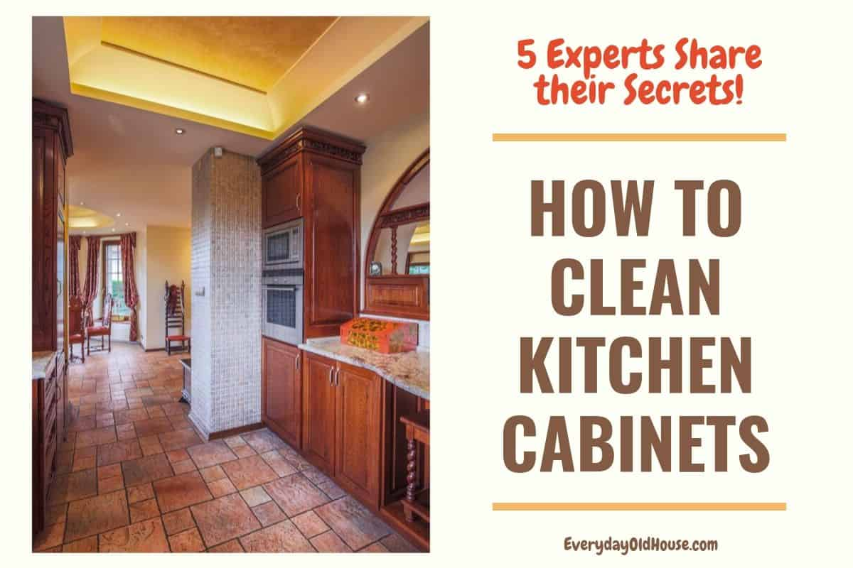 How To Clean The Kitchen Cabinets Wood