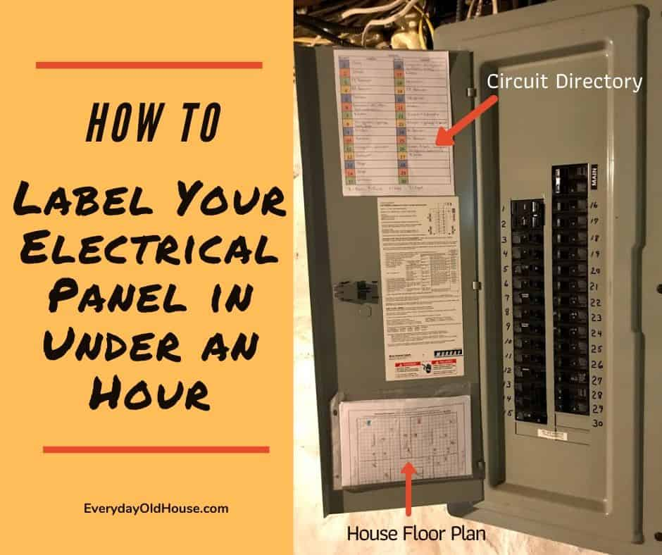 How to (Quickly) Label A Home's Electrical Panel Directory - Everyday Old  House | Two Breaker Outside Fuse Box |  | Everyday Old House