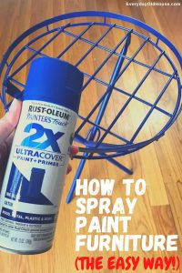 How To Rejuvenate Faded Metal Outdoor Furniture Using Rust Oleum Spray Paint Everyday Old House