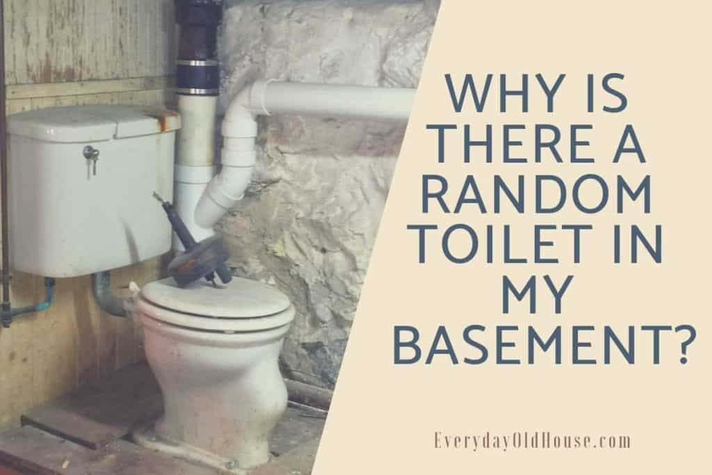 3 Reasons Why You Have A Random Toilet In Your Basement